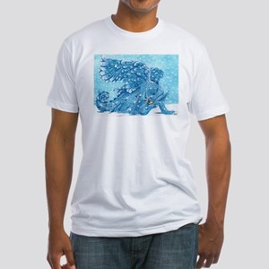 Snow Dragon Fitted T-Shirt