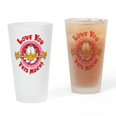 Love You This Much! Drinking Glass