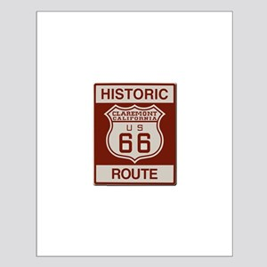 Claremont Route 66 Small Poster