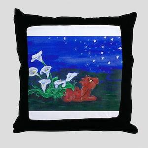 Star Gazer Dragon Throw Pillow