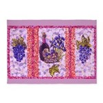 Grapes And Wine Pointillism with Irises Grape Leaf