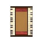 Piano Keys Frame Border by Kristie Hubler 5'x7'Are