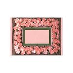 Pink Ribbon Roses and Leaves Satin Photo Frame Bor