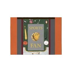 Sports Fan Equipment Border by Kristie Hubler 5'x7