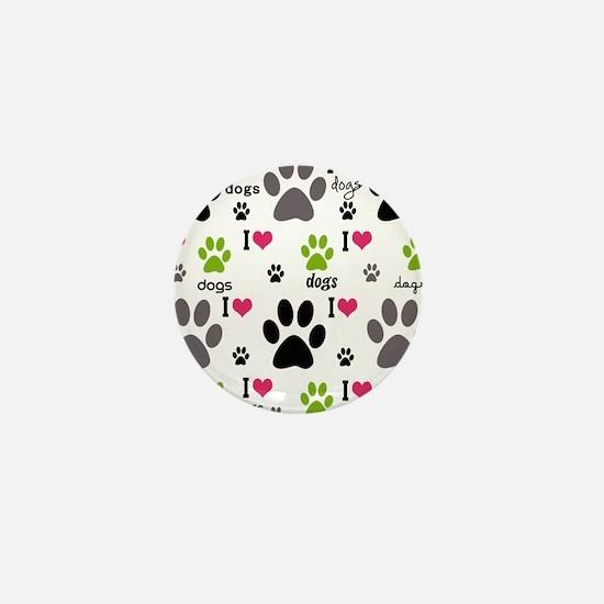 I Love Dogs Mini Button