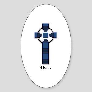 Cross - Home Sticker (Oval)