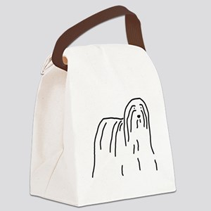 Bearded Collie Canvas Lunch Bag