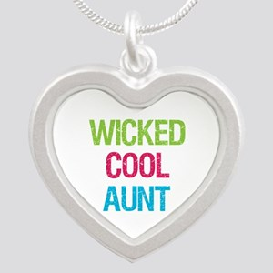 WickedCoolAunt Silver Heart Necklace