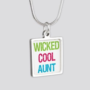 WickedCoolAunt Silver Square Necklace