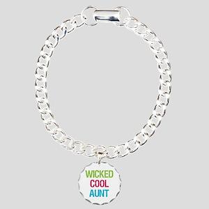WickedCoolAunt Charm Bracelet, One Charm