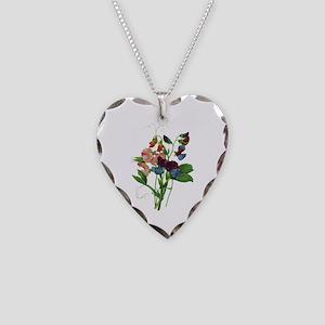 Pierre-Joseph Redoute Botanical Necklace Heart Cha