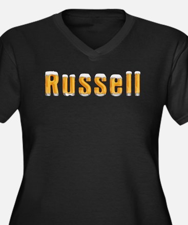 Russell Beer Women's Plus Size V-Neck Dark T-Shirt