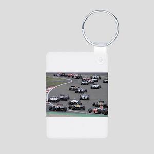 F1 Aluminum Photo Keychain