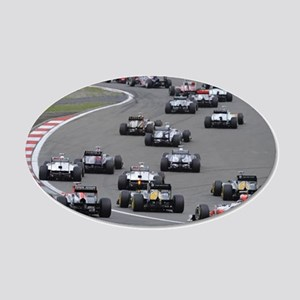 F1 20x12 Oval Wall Decal