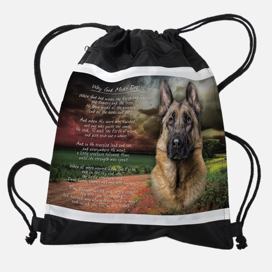 godmadedogs.png Drawstring Bag