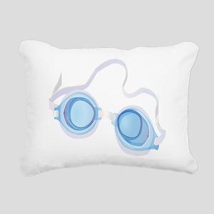 Swimming Goggles Rectangular Canvas Pillow