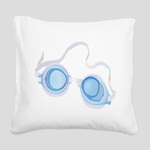 Swimming Goggles Square Canvas Pillow