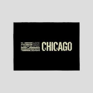 Black Flag: Chicago 5'x7'Area Rug