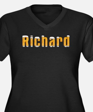 Richard Beer Women's Plus Size V-Neck Dark T-Shirt