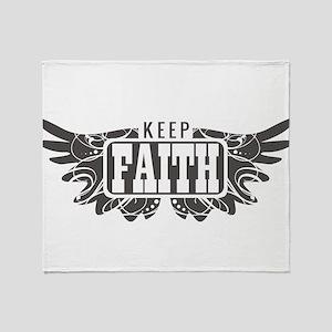 Keep Faith Throw Blanket