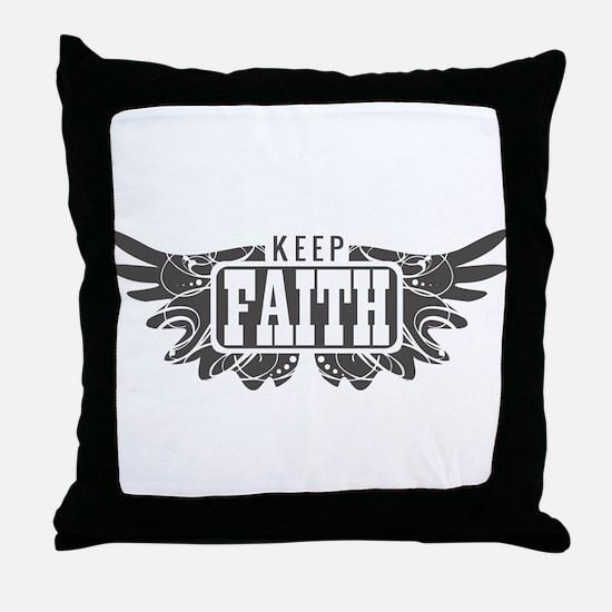 Keep Faith Throw Pillow