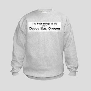 Depoe Bay: Best Things Kids Sweatshirt