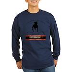 TSK logo plus dog Long Sleeve Dark T-Shirt