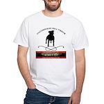 TSK logo plus dog White T-Shirt