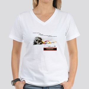 TSK logo plus dog Women's V-Neck T-Shirt