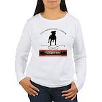 TSK logo plus dog Women's Long Sleeve T-Shirt