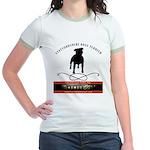 TSK logo plus dog Jr. Ringer T-Shirt