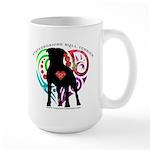 Tsk Logo Plus Dog Large Mug Mugs