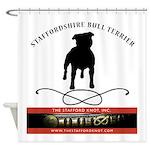 TSK logo plus dog Shower Curtain