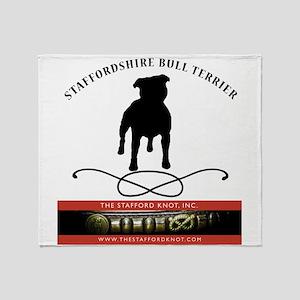 TSK logo plus dog Throw Blanket