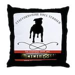TSK logo plus dog Throw Pillow