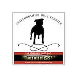 "TSK logo plus dog Square Sticker 3"" x 3"""