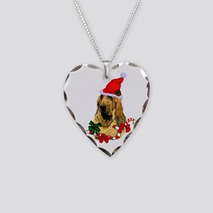 Bloodhound Christmas Necklace Heart Charm
