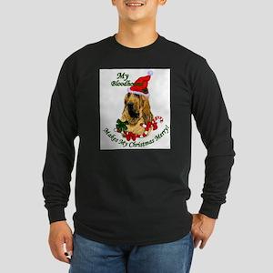 Bloodhound Christmas Long Sleeve Dark T-Shirt