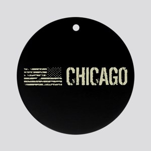 Black Flag: Chicago Round Ornament