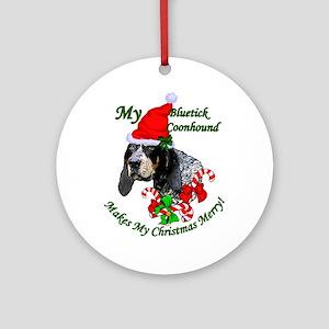 Bluetick Coonhound Christmas Round Ornament