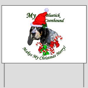 Bluetick Coonhound Christmas Yard Sign