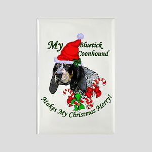 Bluetick Coonhound Chri Rectangle Magnet (10 pack)