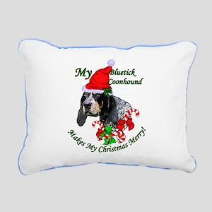 Bluetick Coonhound Chris Rectangular Canvas Pillow