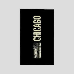 Black Flag: Chicago Area Rug