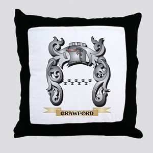 Crawford Family Crest - Crawford Coat Throw Pillow