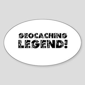 Geocaching Legend Sticker (Oval)