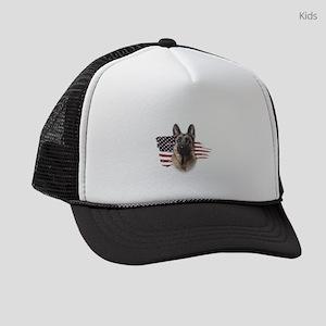 Patriotic German Shepherd Kids Trucker hat