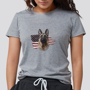 Patriotic German Shepherd Womens Tri-blend T-Shirt