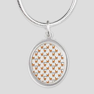 Llama Mania Silver Oval Necklace
