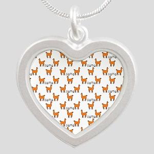 Llama Mania Silver Heart Necklace